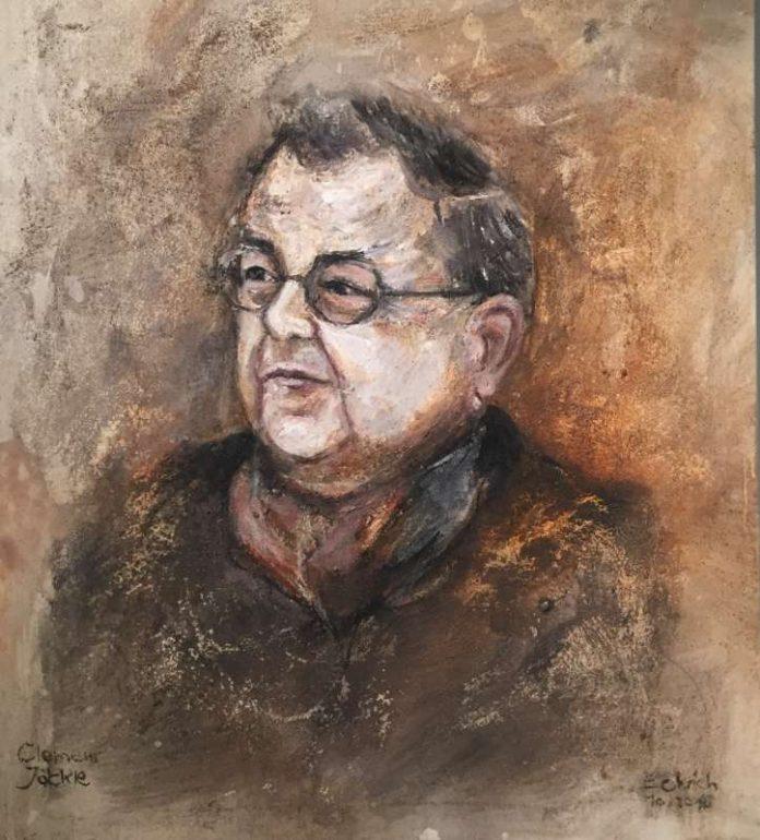 Porträt des Schifferstadter Malers Martin Eckrich, vom verstorbenen Kunsthistoriker Clemens Jöckle.