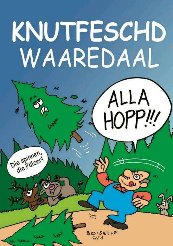Der Knutfest-Cartoon (Quelle: Steffen Boiselle / FC Wacker Weidenthal)