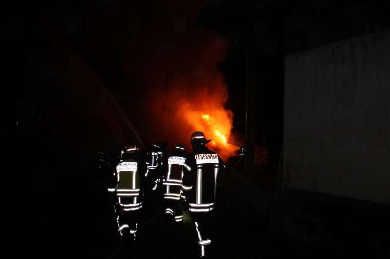 Der Brand brach am 25.12.16 aus (Foto: Feuerwehr Fürth)