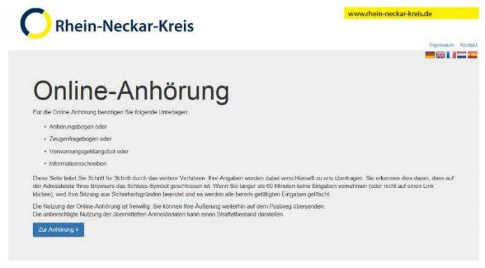 Ordnungswidrigkeitenverfahren können Bürgerinnen und Bürger im Rhein-Neckar-Kreis auch online abwickeln (Foto: Landratsamt Rhein-Neckar-Kreis)