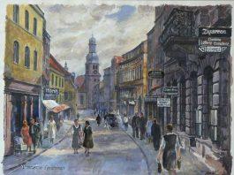 Alt Pirmasens mit der Lutherkirche aus der Sicht des Malers Ludwig Petzinger. (Foto: Sammlung Stadtarchiv)