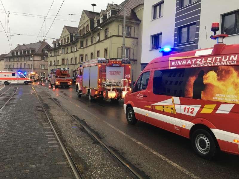 Einsatz in der Mannheimer Straße (Foto: Ralf Mittelbach)