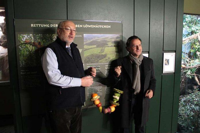 Prof. Niekisch und Dr. Siegfried (Foto: Zoo Frankfurt)