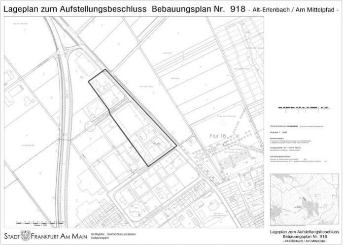 Lageplan (Quelle: Stadt Frankfurt am Main)