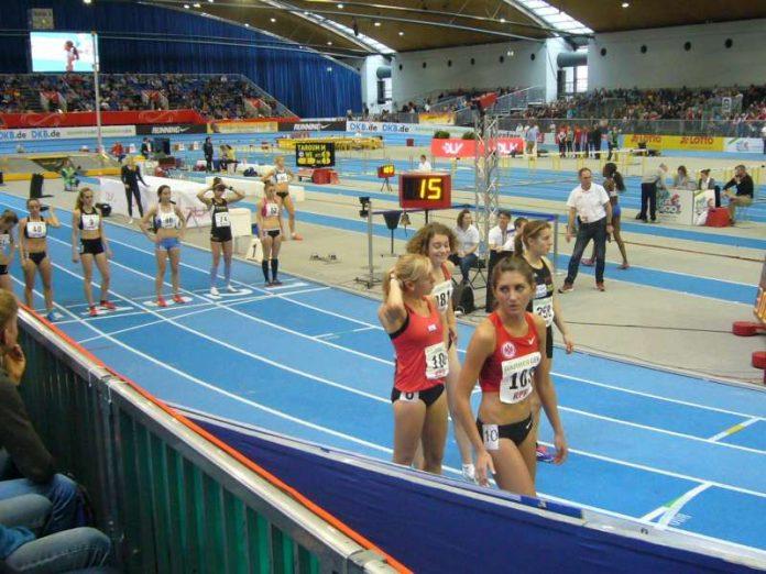 Leichtathletik in der Messe Karlsruhe (Foto: Hannes Blank)