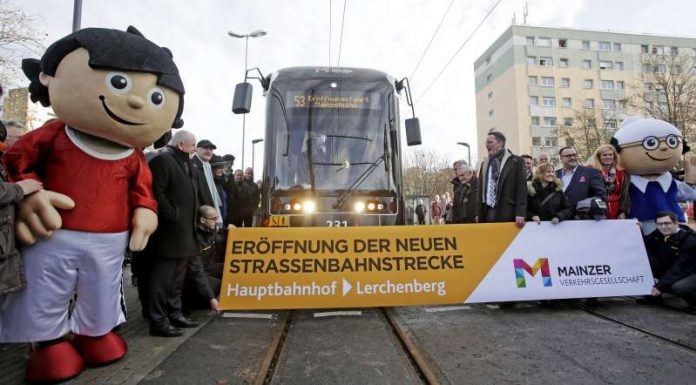 Feierliche Eröffnung der Mainzer Mainzelbahn , (Foto: Alexander Heimann / Vollformat Fotografie Dziemballa Heimann UG)