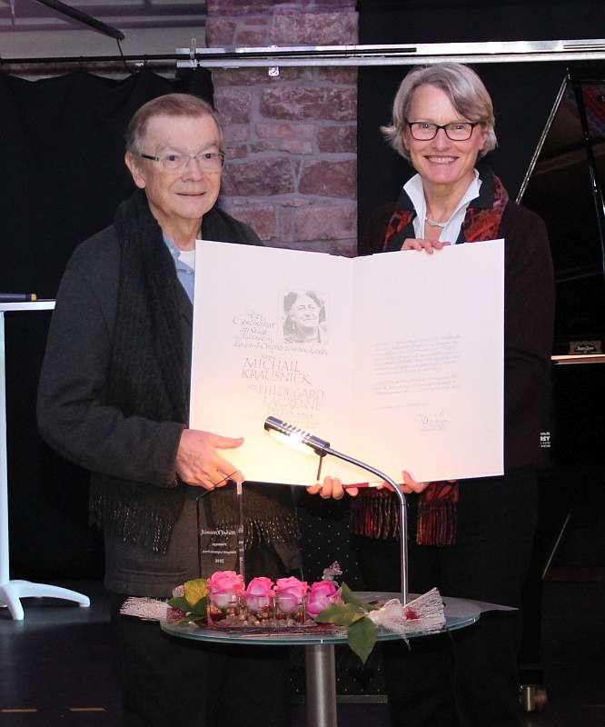 Michail Krausnick und Bürgermeisterin Dr. Ulrike Freundlieb (Foto: Stadt Mannheim)