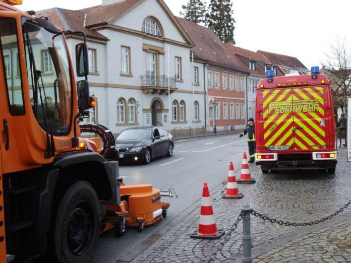 Eine Ölspur wurde entfernt (Foto: Feuerwehr)