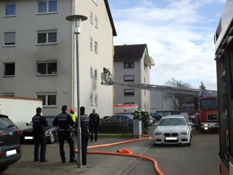 Drehleitereinsatz (Foto: Feuerwehr)