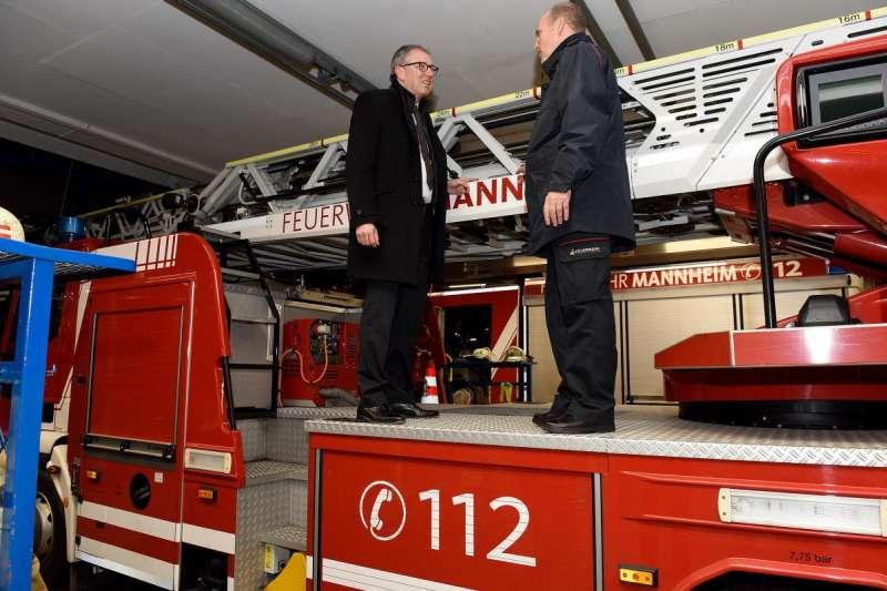 Besuch der Feuerwache Süd (Quelle: Stadt Mannheim, Bild: Thomas Tröster)