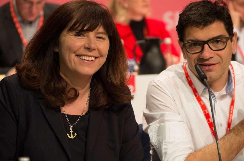 Jutta Steinruck und Salvatore Barbaro (Foto: Oskar Grimm/SPD Landesverband Rheinland-Pfalz)