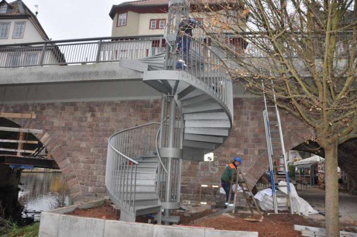 Die fast fertiggestellte Treppe (Foto: Stadtverwaltung Bad Kreuznach)