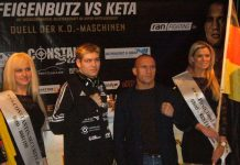 Vincent Feigenbutz und Mike Keta auf der Pre-Pressekonferenz in Karlsruhe (Foto: Hannes Blank)
