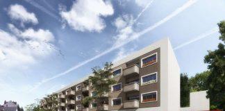 Visualisierung neues Wohngebäude mit Supermarkt in der Maybachstraße (Foto: Architekturbuero Jo Franzke)