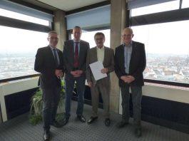 v.l.: Udo Holzmann, Peter Kiefer, Matthias Pink und Michael Klein (Foto: Stadt Kaiserslautern)