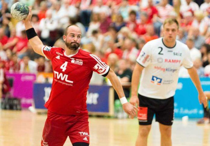Philipp Grimm, Kapitän des Handballzweitligisten TSG Ludwigshafen-Friesenheim, wird nach dieser Saison seine Karriere beenden. (Foto: Harry Reis)