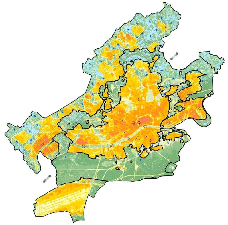 Stadtklima gesamt (Grafik: Stadt Frankfurt)