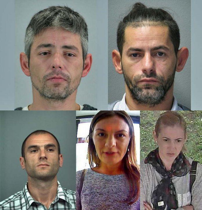Wer kennt den Aufenthaltsort der 5 gesuchten Kriminellen