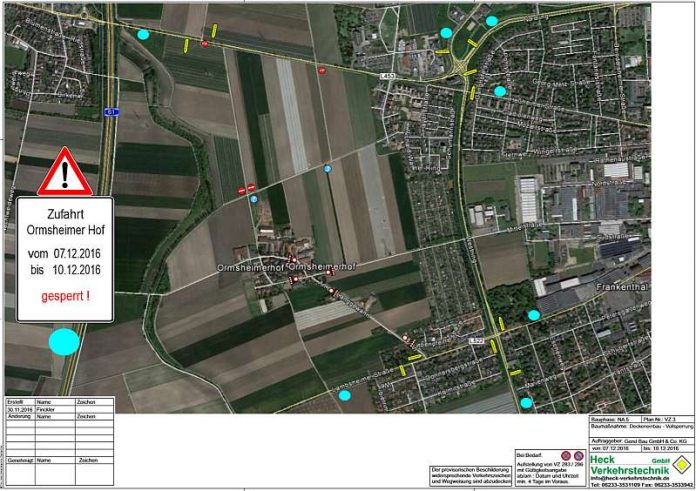 Verkehrszeichenplan (Quelle: Gerst Bau GmbH & Co KG)