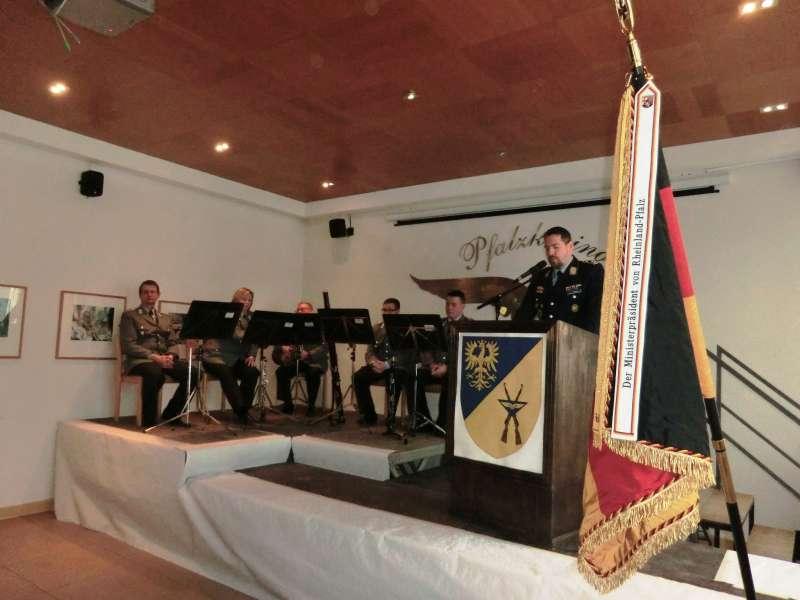 Ansprache von Oberstleutnant Olboeter (Foto: Wiedemann, Luftwaffenausbildungsbataillon)