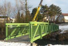 Die alte Brücke wurde durch einen Neubau ersetzt (Foto: Stadt Sinsheim)