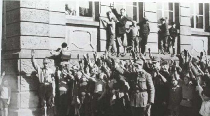 Schulhof in der Ostschule 1933 (Quelle: Stadtarchiv)