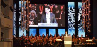 OB Thomas Hirsch lud zum Neujahrsempfang des Oberbürgermeisters in die Jugendstil-Festhalle. (Foto: Stadt Landau in der Pfalz)