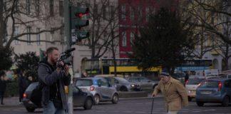 Julian Vogel bei einem Dreh in Berlin. (Foto: Julian Vogel)