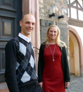 Erste Beigeordnete Diana Stolz und der Zwingenberger Bürgermeister Dr. Holger Habich (Foto: Kreis Bergstraße)