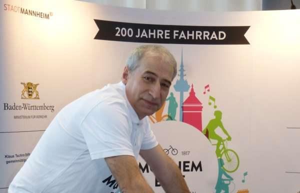 Volker Schwarzwälder, Volunteering-Manager im Jubiläumsjahr des Fahrrades (Foto: Stadt Mannheim)
