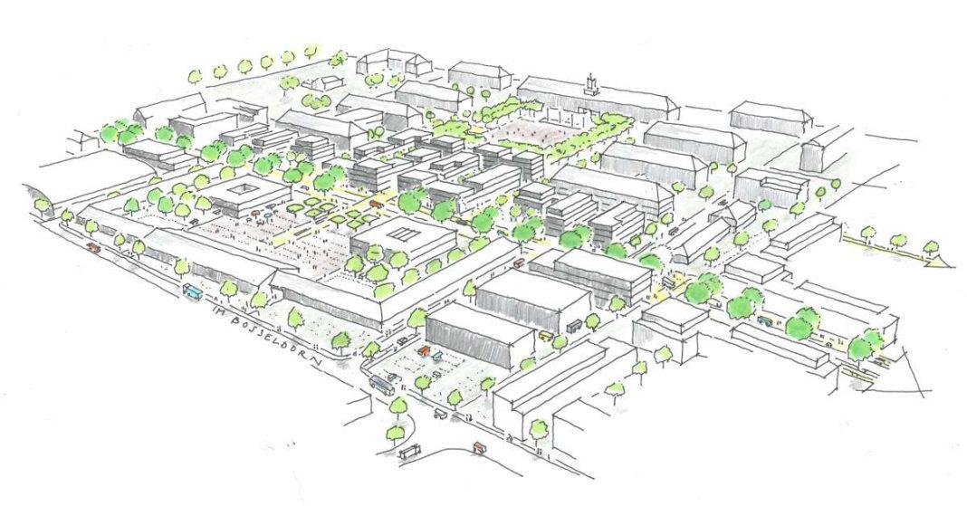 Illustration des Entwurfs aus westlicher Richtung. (Grafik: BPD Immobilienentwicklung)
