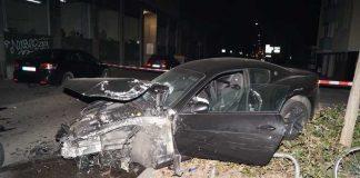 """Der Wagen des """"Posers"""" wurde bei dem Unfall ebenfalls total beschädigt"""