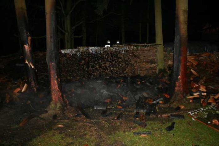 Brandstiftung in Medard