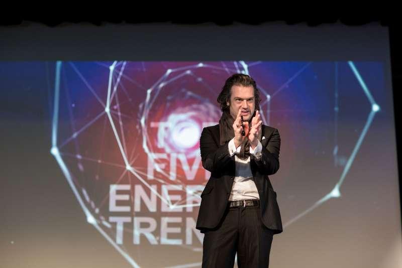 """Beim GGEW-Symposium """"Die Zukunft der Energiewirtschaft"""" in Heppenheim: Nils Müller, CEO TRENDONE GmbH (Foto: GGEW AG/Marc Fippel Fotografie)"""
