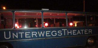 Der Bus des UnterwegsTheaters Heidelberg, der inzwischen in der Hebelhalle eine feste Bleibe hat. (Foto: Hannes Blank)