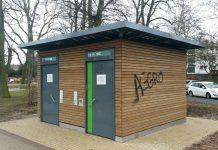 Die Toilette im Stadtpark (Foto: Metropolnews)