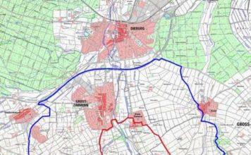 Karte mit der Zonierung (Foto: Kreisverwaltung)