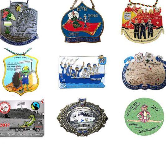 Auswahl an Karnevalsorden aus dem Rhein-Neckar-Kreis (Foto: Landratsamt Rhein-Necker-Kreis)