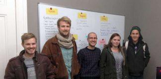 v.l.: Johannes Dam, Julian Butz, Jan Christian Polania-Giese, Anastasia Fischer, Tom Ullrichs (Foto: Popakademie)