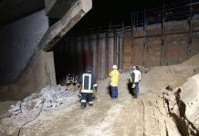 Einsatz auf einer Baustelle an der BAB 659 (Foto: Ralf Mittelbach)
