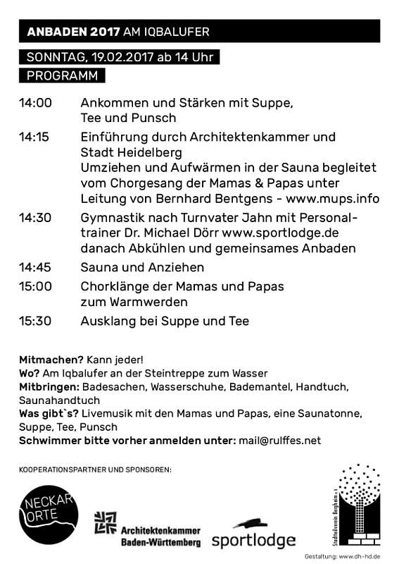 Programm (Quelle: Architektenkammergruppe Heidelberg)