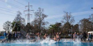 Das Sonnenbad eröffnet am 17. Februar als erstes Freibad in Deutschland die Freibad-Saison 2017. (Archivfoto der Karlsruher Bäderbetriebe von der Saisoneröffnung 2016)