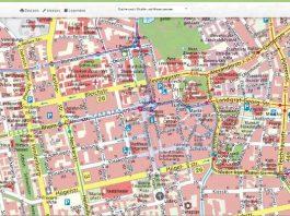 Neuer Stadtplan mit vielen Suchmöglichkeiten. (Foto: Wissenschaftsstadt Darmstadt/ Vermessungsamt)