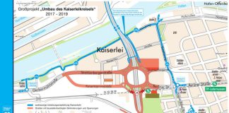 """Großprojekt """"Umbau des Kaiserleikreisels"""" (Quelle: Vermessungsamt Offenbach)"""