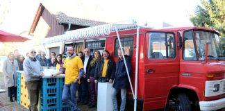 """Weinheimer Stadtjugendring und Suchtberatung touren jetzt mit einem """"Alkoholfreien Feuerwehrauto"""" an Schulen und zu Veranstaltungen (Foto: Stadtverwaltung)"""