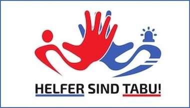 "Logo der Kampagne ""Helfer sind tabu!"""