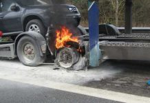 Der brennende Reifen
