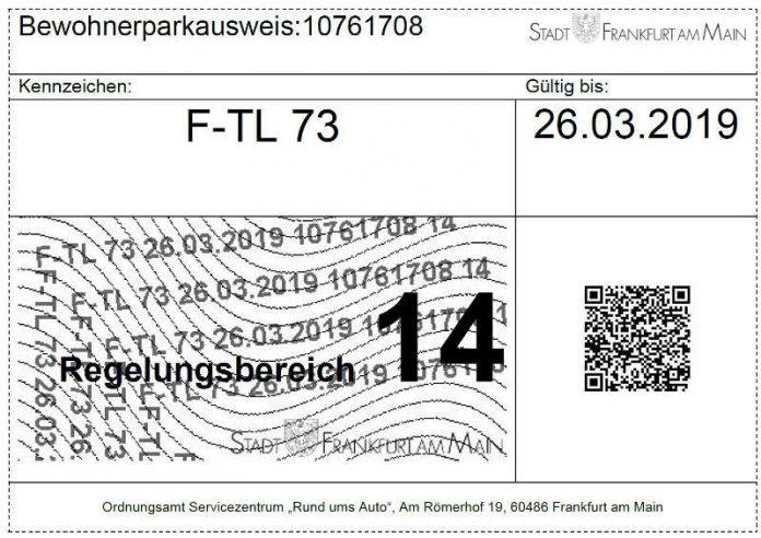 Frankfurt Verlängerung Des Bewohnerparkausweises Ab Sofort Online