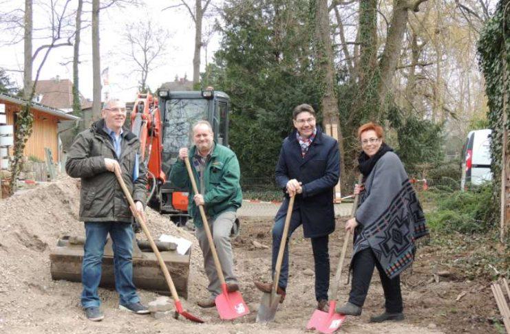 Spatenstich für Umbau des Waldhundgeheges (Foto: Zoo Landau in der Pfalz)
