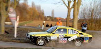 Das Opel Kadett-Duo Werner Mayer (Ludwigshafen) mit Beifahrer Helmut Rotzal (Limburgerhof) belegte den 7. Platz beim ADAC Retro Rallye-Auftakt in Edenkoben (Foto: Bruno Badina)